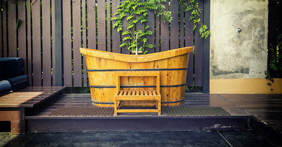 Vasca Da Bagno Giapponese In Legno : Bagno zen: idee e arredo greenstyle