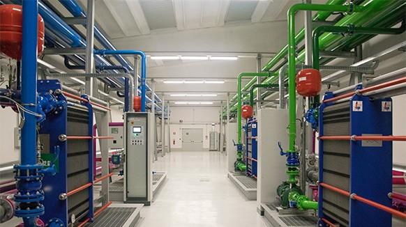 Gli impianti di raffreddamento delle sale dati, nel nuovo data center IT3 di Aruba