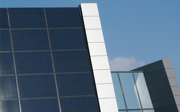 I pannelli fotovoltaici installati sulla copertura del data center