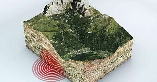 Terremoto, sezione