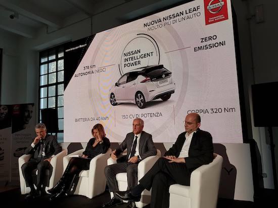 Nissan Leaf, presentazione a Milano