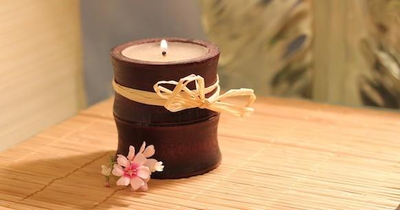 Meditazione, candela