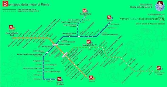 Biomappa Metro Roma