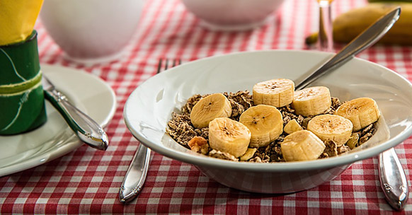 Cereali e banana