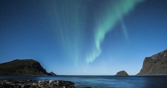 Aurora borealis Isole Lofoten