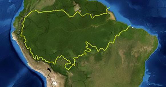 Mappa Amazzonia