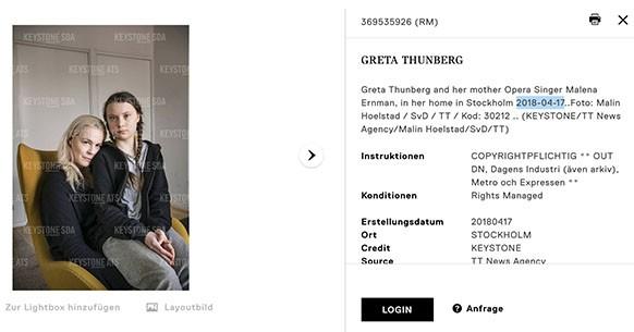 Greta Thunberg e la poltrona