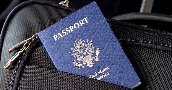 Passaporto valigia