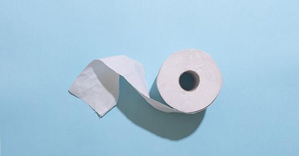 Carta igienica azzurra