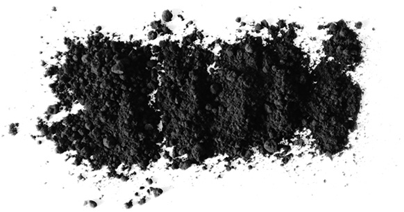 White vegetable charcoal