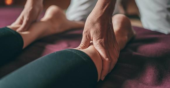 Massaggio, polpaccio