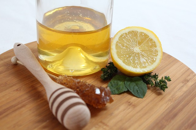 Maschera viso miele limone