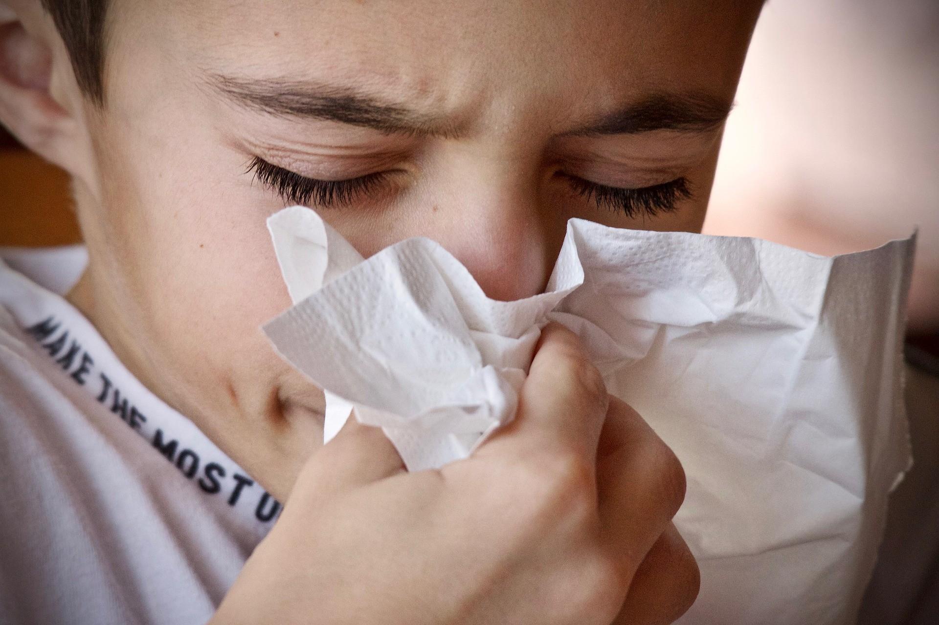 raffreddore estivo nei bambino